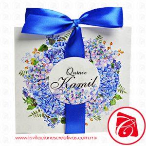 Invitaciones de 15 vintage flores